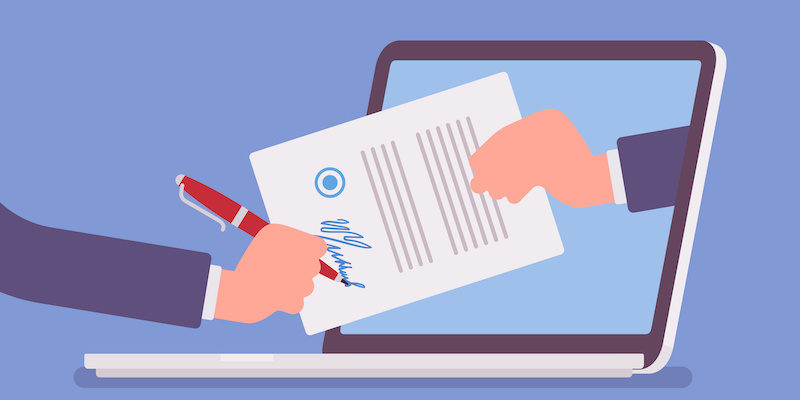 MedicalCRM's electronic signature